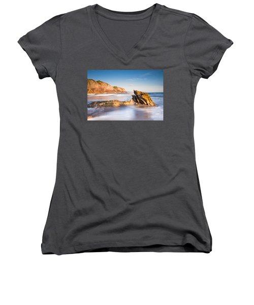 Basque Country Women's V-Neck T-Shirt (Junior Cut) by Mariusz Czajkowski