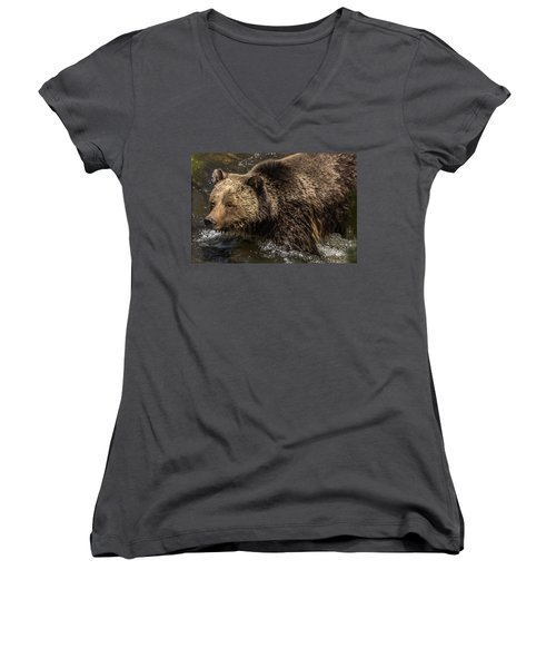 Beryl Springs Sow In The River Women's V-Neck (Athletic Fit)