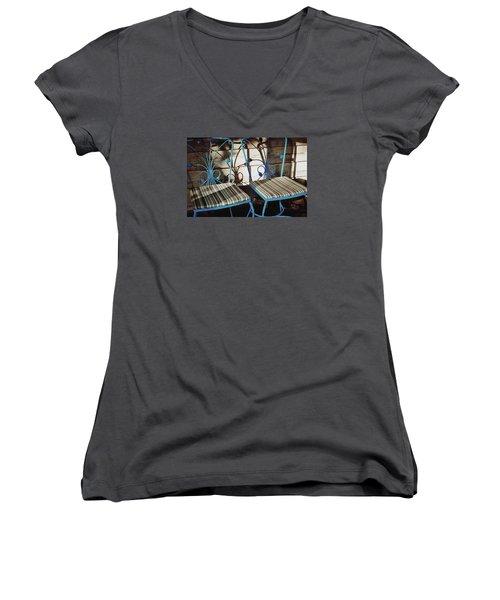 Blooming Seats Women's V-Neck T-Shirt (Junior Cut)