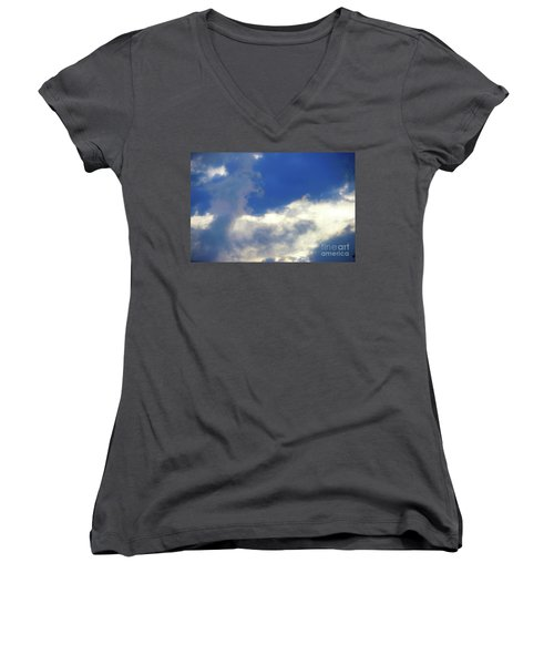 Blue Women's V-Neck T-Shirt (Junior Cut) by Jesse Ciazza