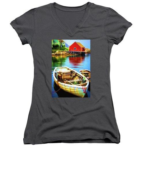 Boats Women's V-Neck T-Shirt