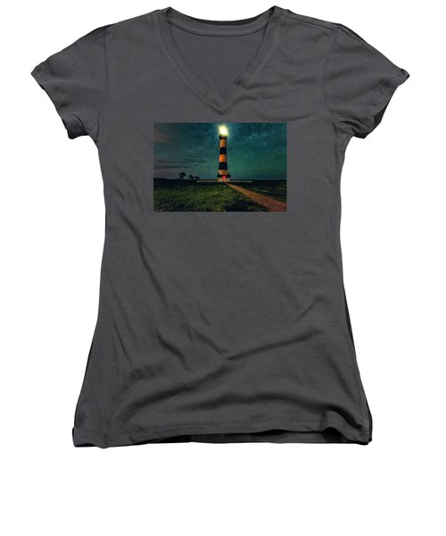 Bodie Island Night Women's V-Neck