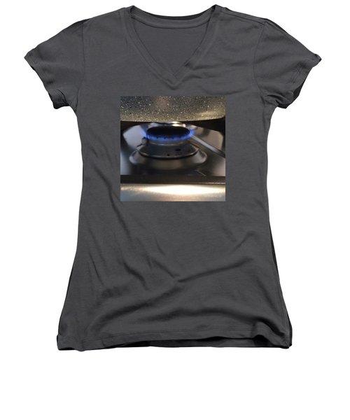 Burn  Women's V-Neck T-Shirt