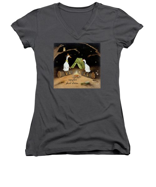 Campfire Ghost Stories Women's V-Neck