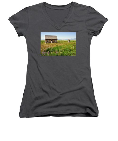 Chester Call Cabin Women's V-Neck T-Shirt