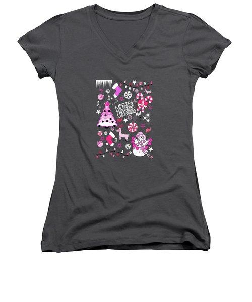 Christmas Women's V-Neck T-Shirt