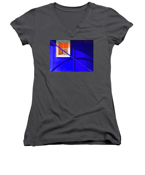 Chromatic Women's V-Neck T-Shirt (Junior Cut) by Wayne Sherriff