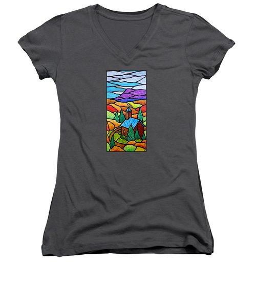 Church In The Wildwood Women's V-Neck T-Shirt