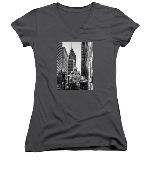 City Of Love Women's V-Neck (Athletic Fit)