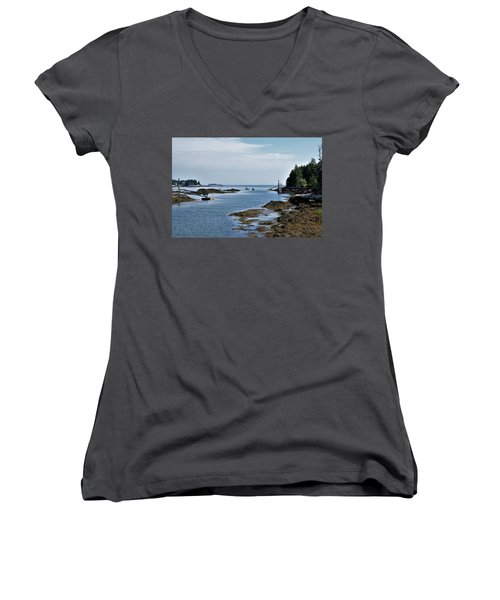 Coastal Maine Women's V-Neck T-Shirt (Junior Cut)