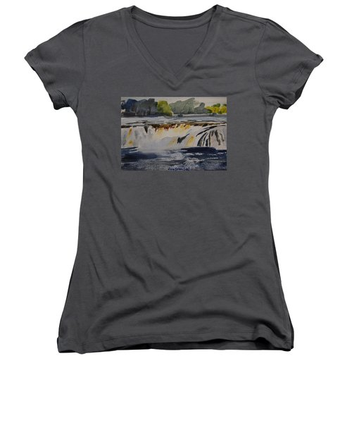 Cohoes Falls Study 2 Women's V-Neck (Athletic Fit)