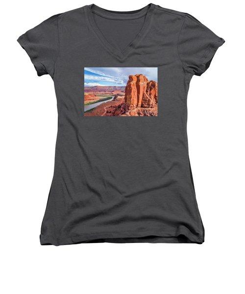 Colorado River And Chicken Corner Trail  Women's V-Neck T-Shirt