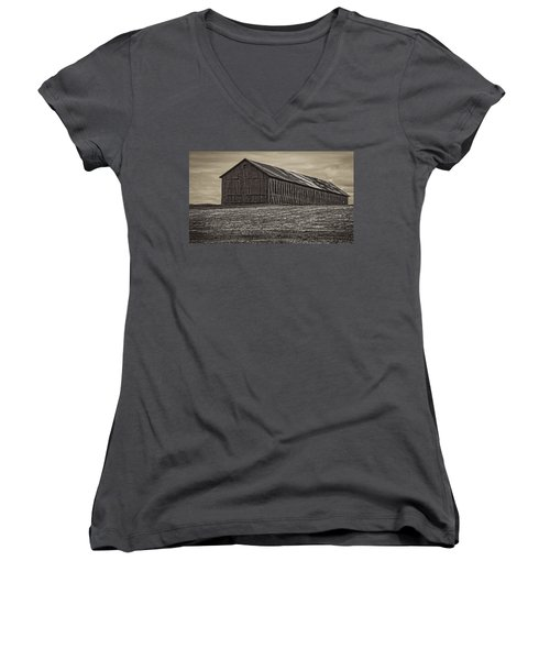 Connecticut Tobacco Barn Women's V-Neck (Athletic Fit)