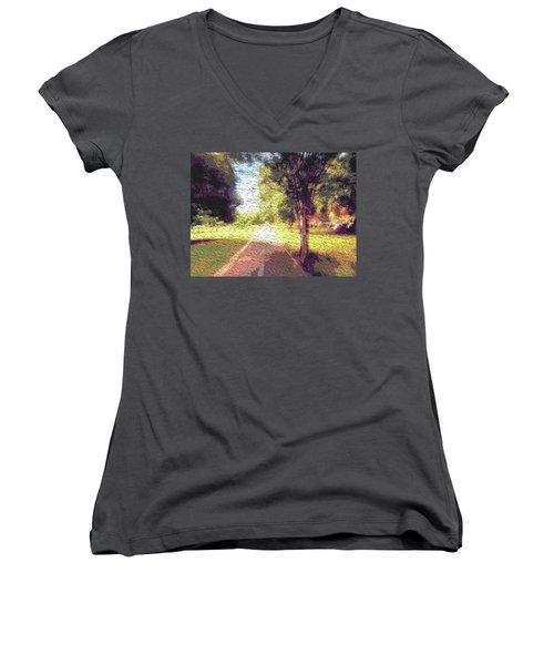 Contemporany Women's V-Neck T-Shirt (Junior Cut) by Beto Machado