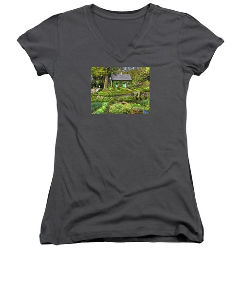 Cottage In The Green Women's V-Neck (Athletic Fit)