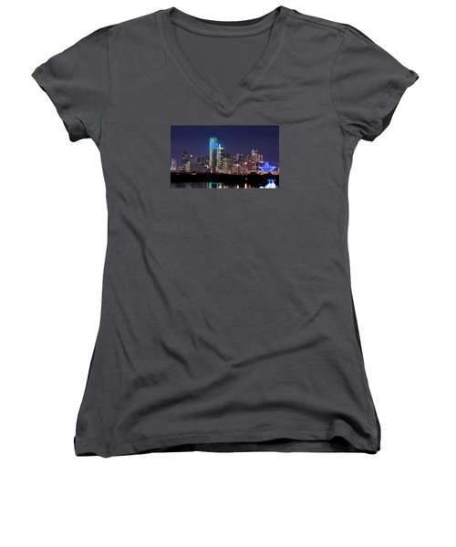 Dallas Skyline Cowboys Women's V-Neck (Athletic Fit)