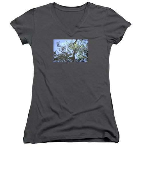 Dancing Leaves Women's V-Neck T-Shirt
