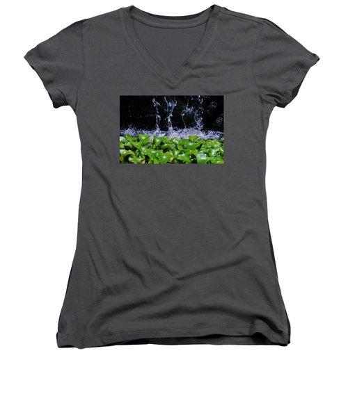 Dancing Water Women's V-Neck (Athletic Fit)