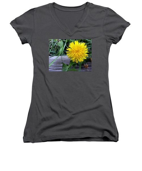 Women's V-Neck featuring the photograph Dandelion by Robert Knight