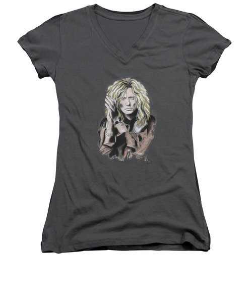 David Coverdale Women's V-Neck T-Shirt (Junior Cut)