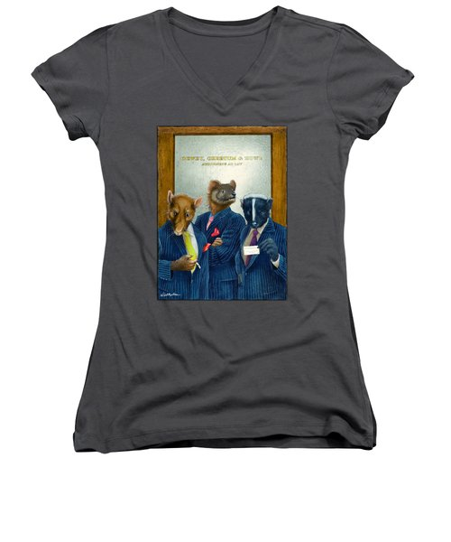 Dewey, Cheetum And Howe... Women's V-Neck