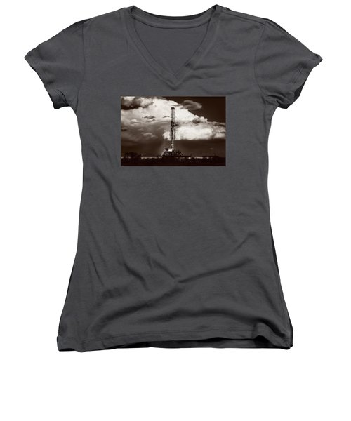 Downpour Women's V-Neck T-Shirt