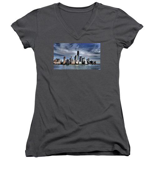Dramatic New York City Women's V-Neck (Athletic Fit)