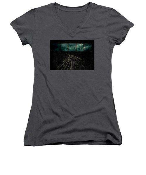 Drifting Women's V-Neck T-Shirt (Junior Cut) by Mark Ross