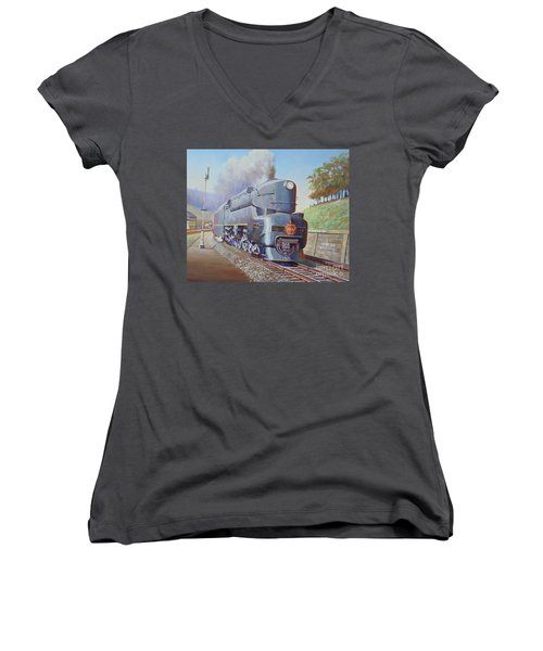 Duplex Express Women's V-Neck T-Shirt (Junior Cut) by Mike Jeffries