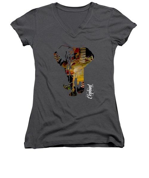 Elephant Collection Women's V-Neck T-Shirt