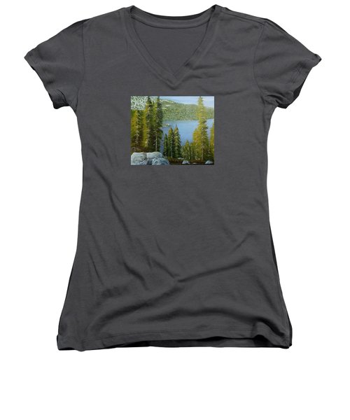 Emerald Bay - Lake Tahoe Women's V-Neck T-Shirt