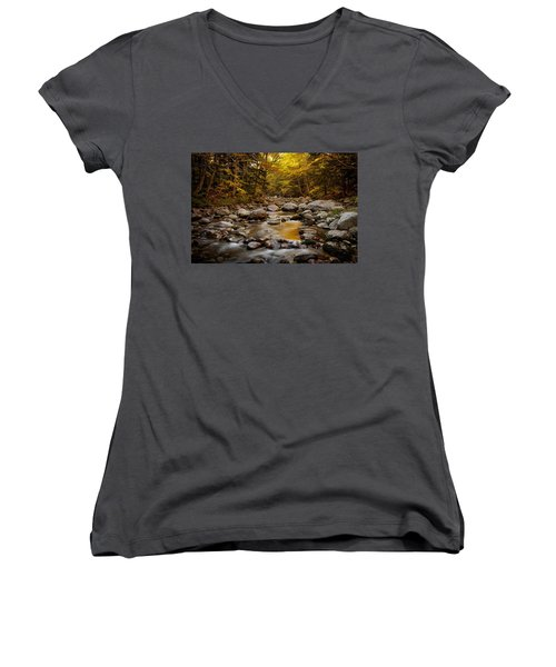 Fall On The Gale River Women's V-Neck