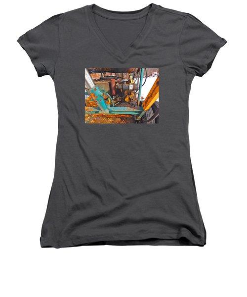 Feb 2016 33 Women's V-Neck T-Shirt (Junior Cut) by George Ramos