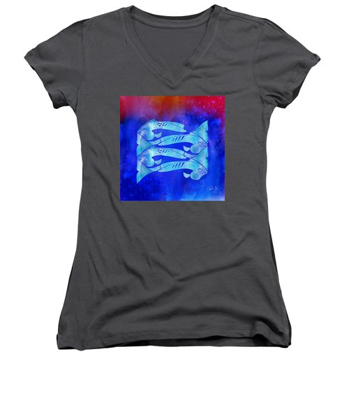 1 Fish 2 Fish Women's V-Neck (Athletic Fit)