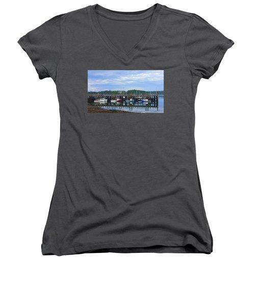 Fishing Boats - Beaver Harbour Women's V-Neck