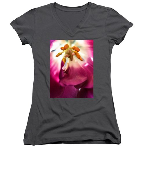 Women's V-Neck T-Shirt (Junior Cut) featuring the photograph Forever by Bobby Villapando
