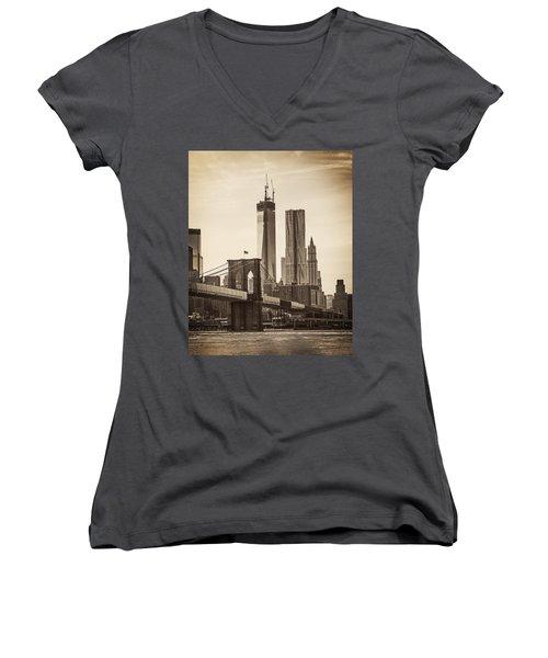 Freedom Tower Rising Women's V-Neck T-Shirt