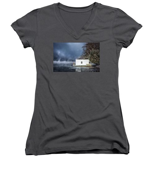 Frosty Morning Women's V-Neck (Athletic Fit)