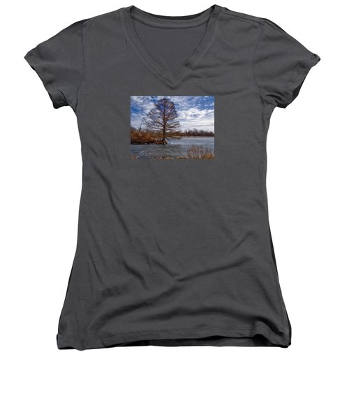 Frozen Lake Women's V-Neck (Athletic Fit)