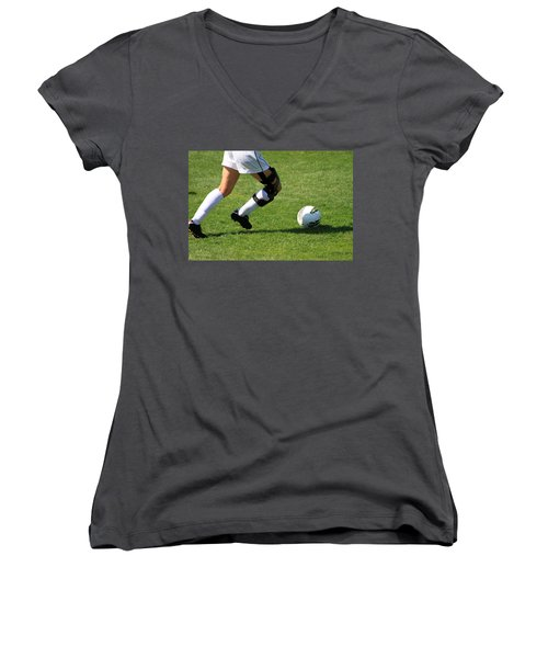 Futbol Women's V-Neck T-Shirt