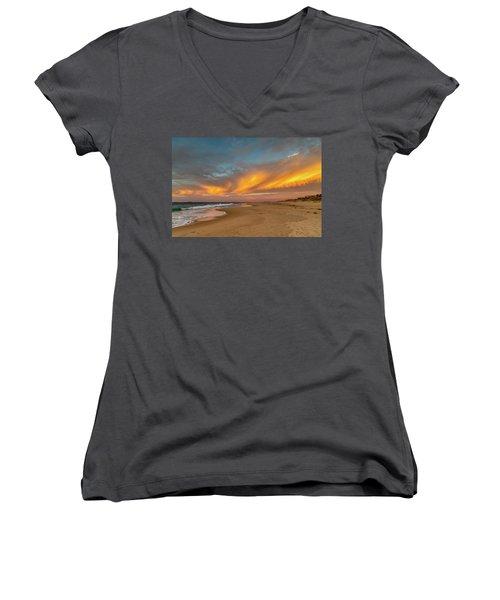Golden Clouds Women's V-Neck T-Shirt