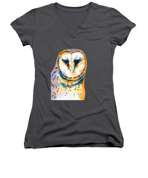 Gorgeous Barn Owl Women's V-Neck