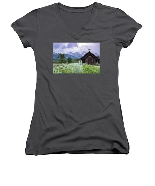 Grand Teton Church Women's V-Neck
