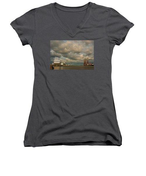 Harbor Storm Women's V-Neck T-Shirt