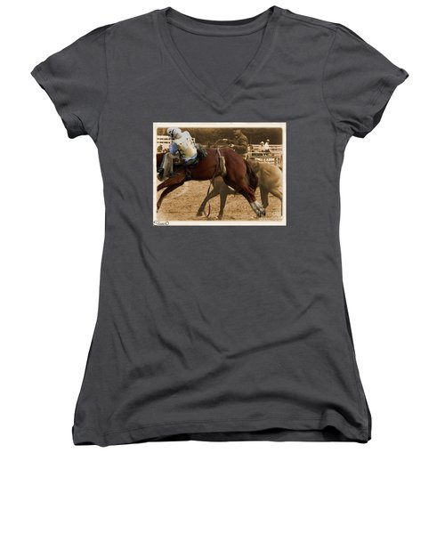Helluva Rodeo-the Ride 6 Women's V-Neck (Athletic Fit)
