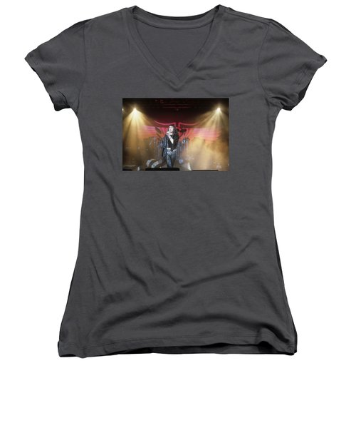 Ian Astbury Of The Cult Women's V-Neck