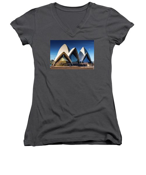 Iconic Sydney Opera House Women's V-Neck (Athletic Fit)