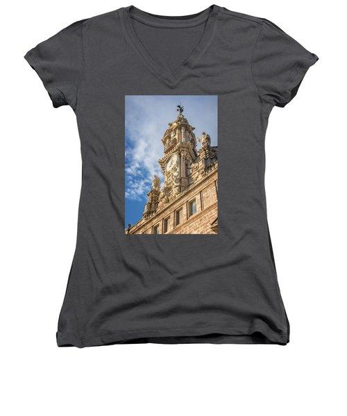 Women's V-Neck T-Shirt (Junior Cut) featuring the photograph Iglesia De Los Santos Juanes Valencia Spain by Joan Carroll