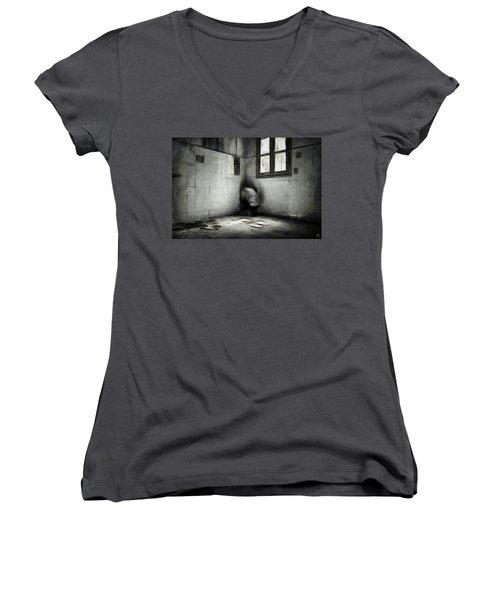 In The Corner Women's V-Neck T-Shirt (Junior Cut) by Gun Legler