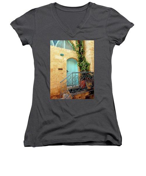 Jaffa-israel Women's V-Neck T-Shirt